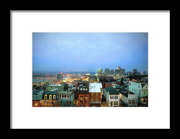Tranquility Framed Print featuring the photograph Cincinnati Skyline by Keith R. Allen