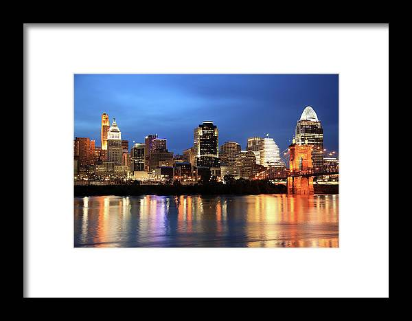 Downtown District Framed Print featuring the photograph Cincinnati Skyline, Ohio by Veni