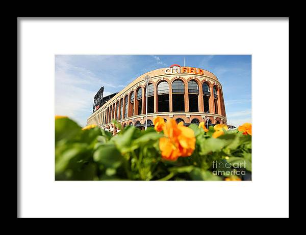 Residential District Framed Print featuring the photograph Citifield Preview by Mike Stobe