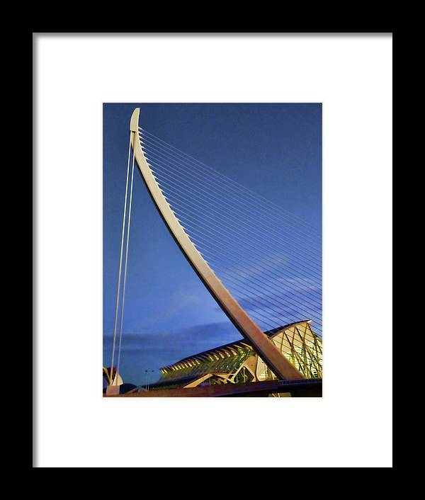 Architecture Framed Print featuring the photograph City Of Arts And Sciences # 5 - Valencia by Allen Beatty