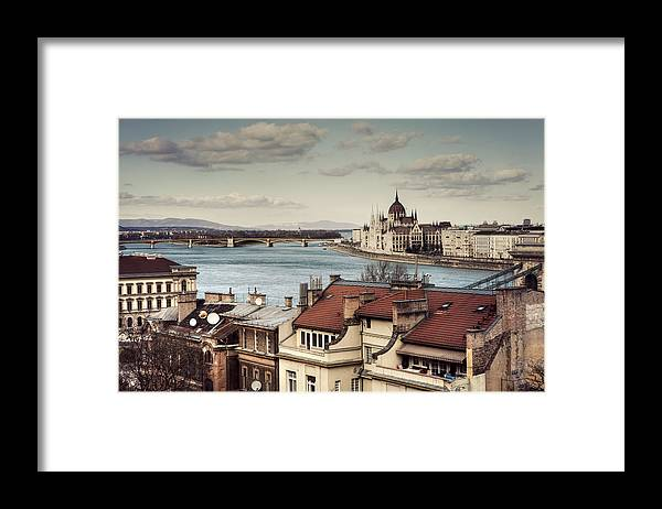Tranquility Framed Print featuring the photograph Cityscape Of Budapest by By Matthew Heptinstall