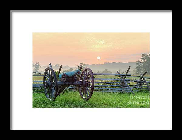Scenics Framed Print featuring the photograph Civil War Cannon by Tetra Images