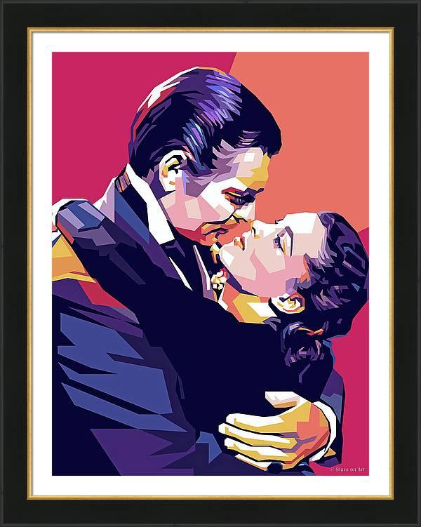 Clark Gable and Vivien Leigh by Stars on Art