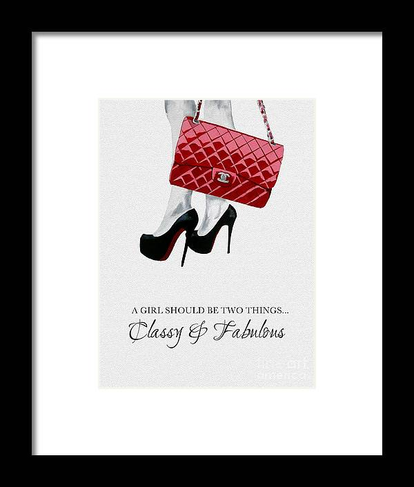 Fashion Framed Print featuring the mixed media Classy And Fabulous by My Inspiration