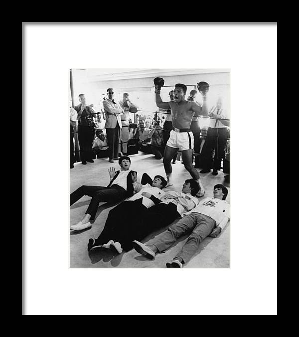 Crowd Framed Print featuring the photograph Clay And The Beatles by Keystone