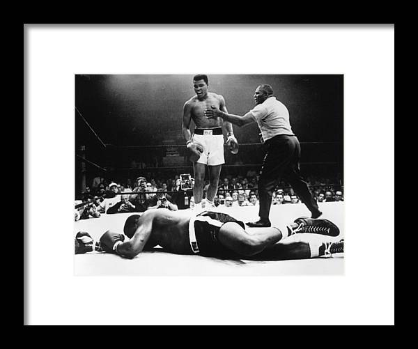 Heavyweight Framed Print featuring the photograph Clay V Liston by Hulton Archive