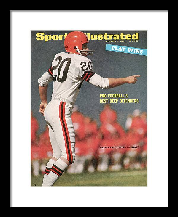 Atlanta Framed Print featuring the photograph Cleveland Browns Ross Fichtner... Sports Illustrated Cover by Sports Illustrated