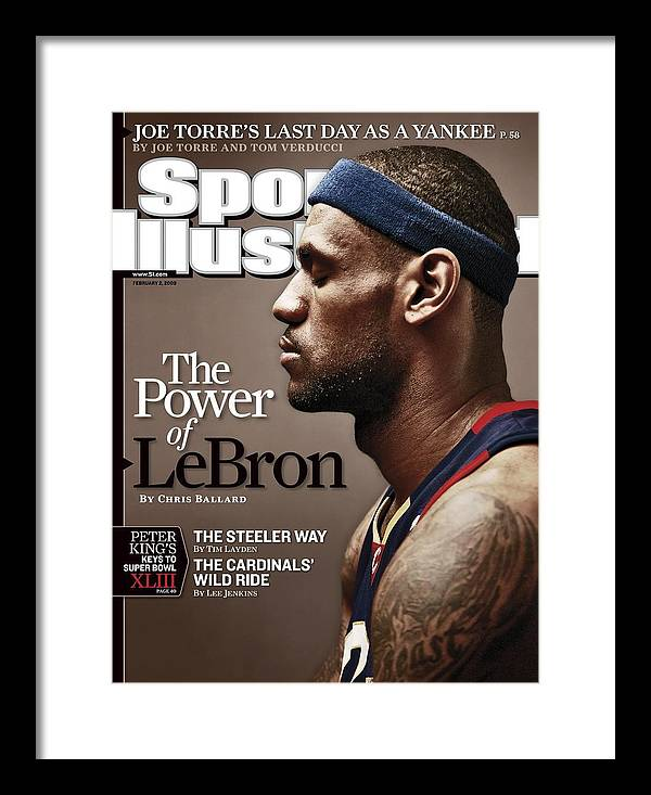 Nba Pro Basketball Framed Print featuring the photograph Cleveland Cavaliers LeBron James Sports Illustrated Cover by Sports Illustrated