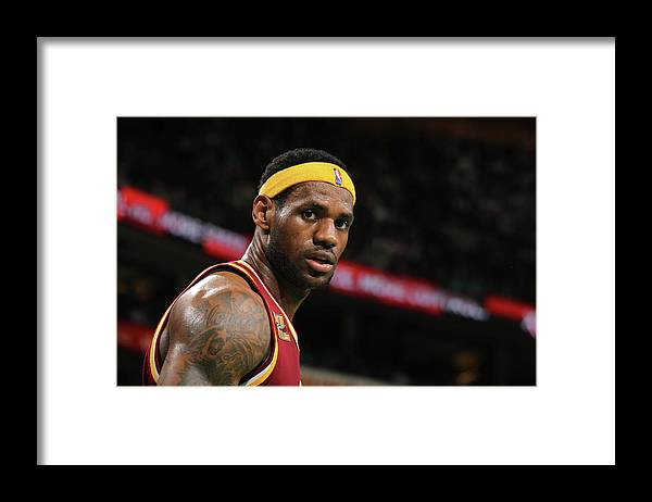 Playoffs Framed Print featuring the photograph Cleveland Cavaliers V Boston Celtics by Nathaniel S. Butler