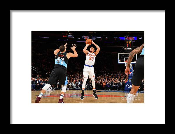 Nba Pro Basketball Framed Print featuring the photograph Cleveland Cavaliers V New York Knicks by Jesse D. Garrabrant