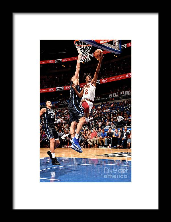 Nba Pro Basketball Framed Print featuring the photograph Cleveland Cavaliers V Orlando Magic by Gary Bassing