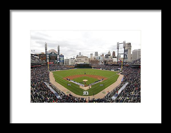 American League Baseball Framed Print featuring the photograph Cleveland Indians V Detroit Tigers by Gregory Shamus
