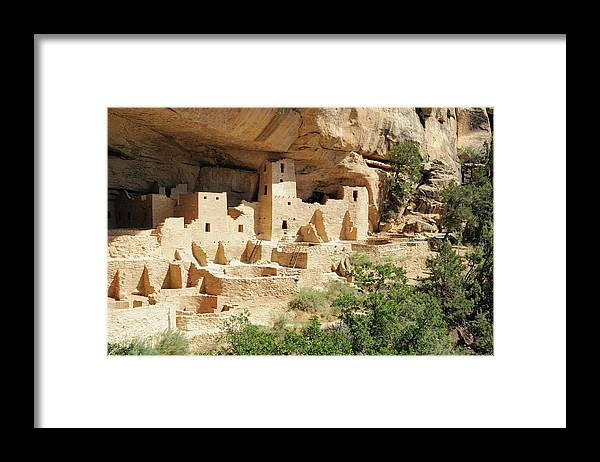 Mesa Verde National Park Framed Print featuring the photograph Cliff Palace In Mesa Verde, Colorado by Sshepard