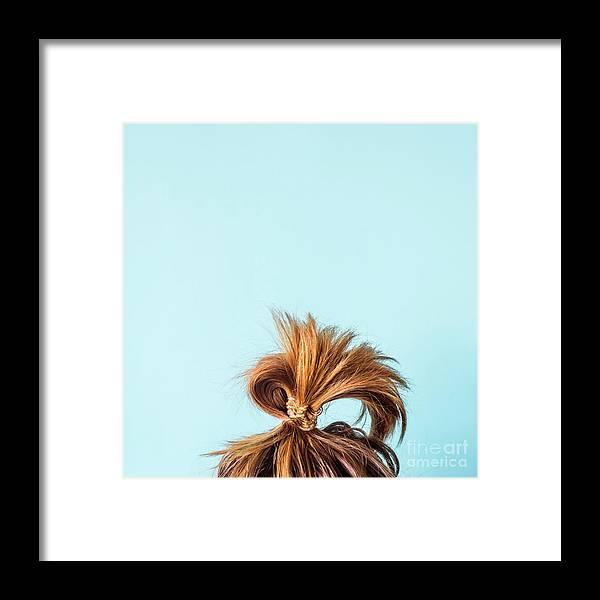 People Framed Print featuring the photograph Close-up Of Woman With Hair Bun by Valeriia Sviridova / Eyeem