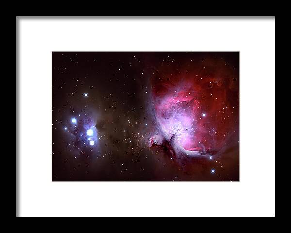 Natural Gas Framed Print featuring the photograph Closeup Of The Great Orion Nebula by Manfred konrad