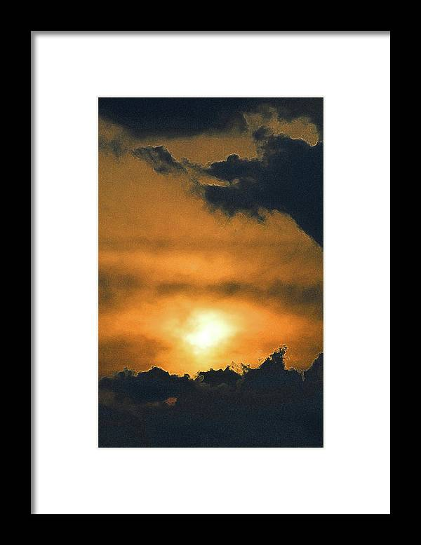Abstract Framed Print featuring the digital art Clouds Above And Below 2 by Lyle Crump