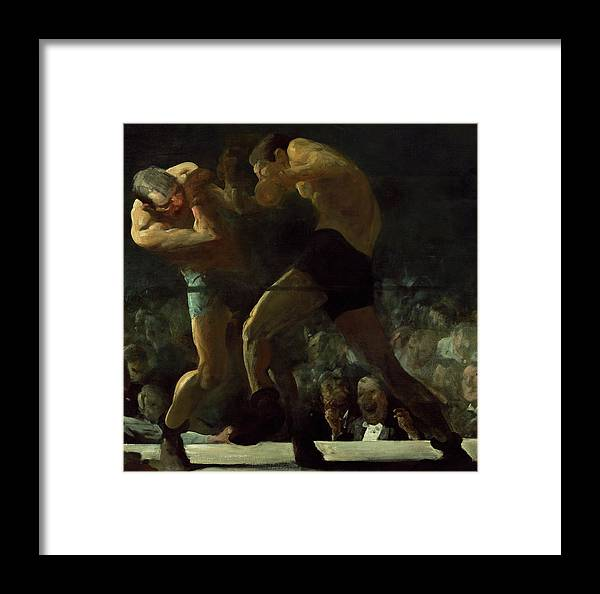 George Bellows Framed Print featuring the painting Club Night, Box, 1907 by George Bellows
