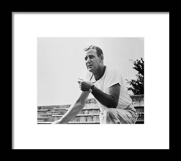 People Framed Print featuring the photograph Coach Paul Bear Bryant by Bettmann