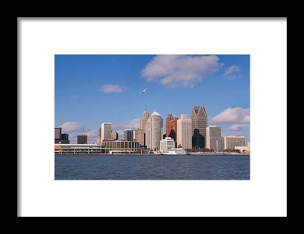 Downtown District Framed Print featuring the photograph Cold Detroit by Corfoto
