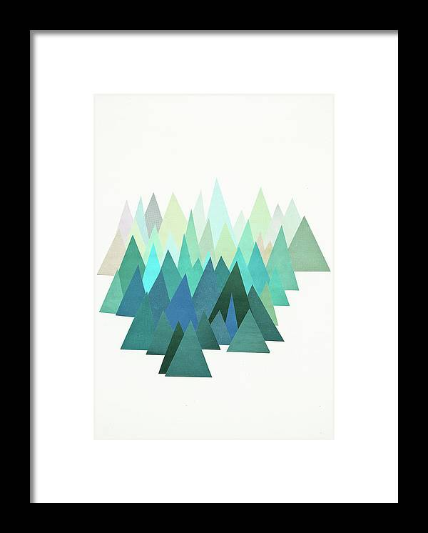Mountains Framed Print featuring the mixed media Cold Mountain by Cassia Beck