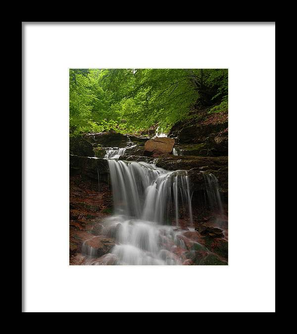Rapid Framed Print featuring the photograph Cold River by Evgeni Dinev