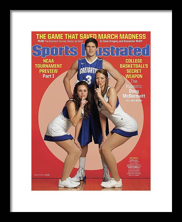 Magazine Cover Framed Print featuring the photograph College Basketballs Secret Weapon The Hypnotic Doug Sports Illustrated Cover by Sports Illustrated