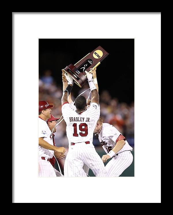 Game Two Framed Print featuring the photograph College World Series - Game Two by Christian Petersen