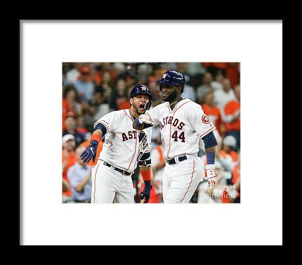 Yulieski Gourriel Framed Print featuring the photograph Colorado Rockies V Houston Astros by Bob Levey