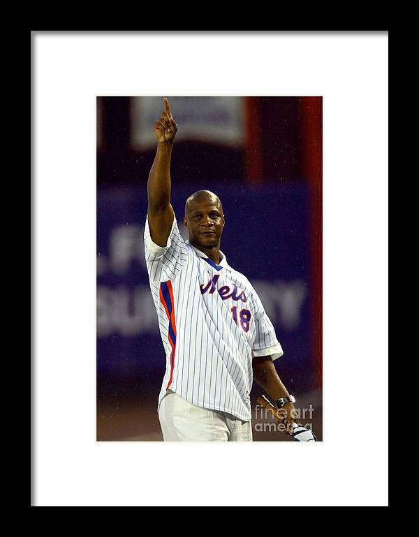 People Framed Print featuring the photograph Colorado Rockies V New York Mets by Chris Trotman