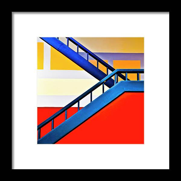 In A Row Framed Print featuring the photograph Colorful Climb by By Wesbs