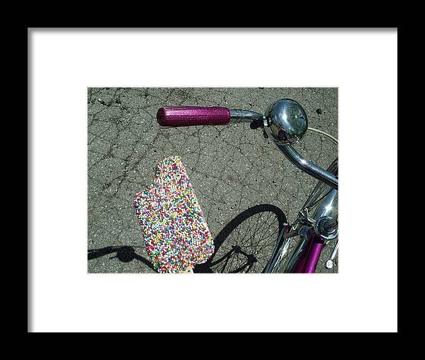 Shadow Framed Print featuring the photograph Colorful Ice Cream Bar And Vintage by Luisa Pelipetz