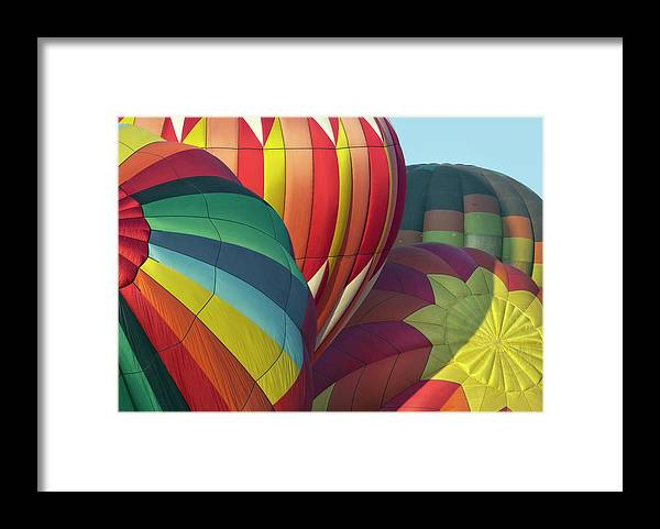 Celebration Framed Print featuring the photograph Colorful Inflation Balloon Race by Provided By Jp2pix.com