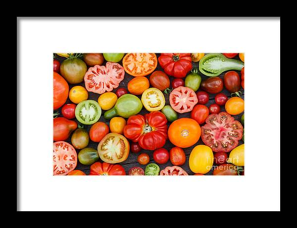 Cherry Framed Print featuring the photograph Colorful Tomatoes by Shebeko