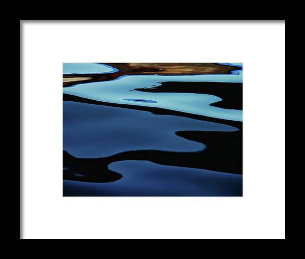 Scenics Framed Print featuring the photograph Colorful Water Background Abstract by Lubilub