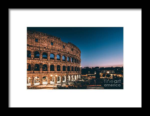 Sunrise Framed Print featuring the photograph Colosseum by Tom Bennink
