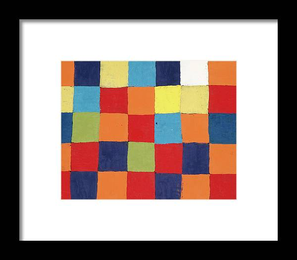 Paul Klee Framed Print featuring the painting Colour Table, Qu by Paul Klee