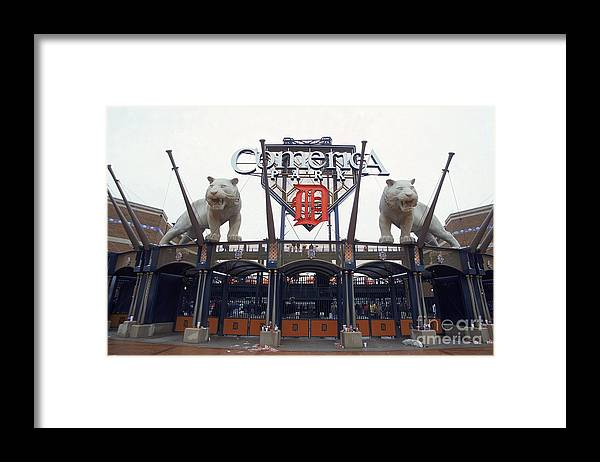 American League Baseball Framed Print featuring the photograph Comerica Park by Harry How