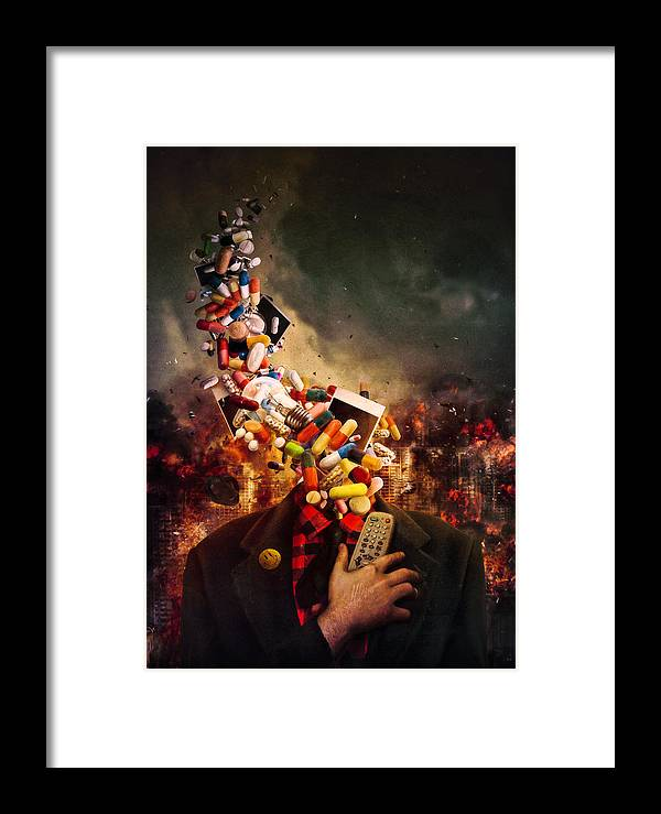 Pink Floyd Framed Print featuring the digital art Comfortably Numb by Mario Sanchez Nevado