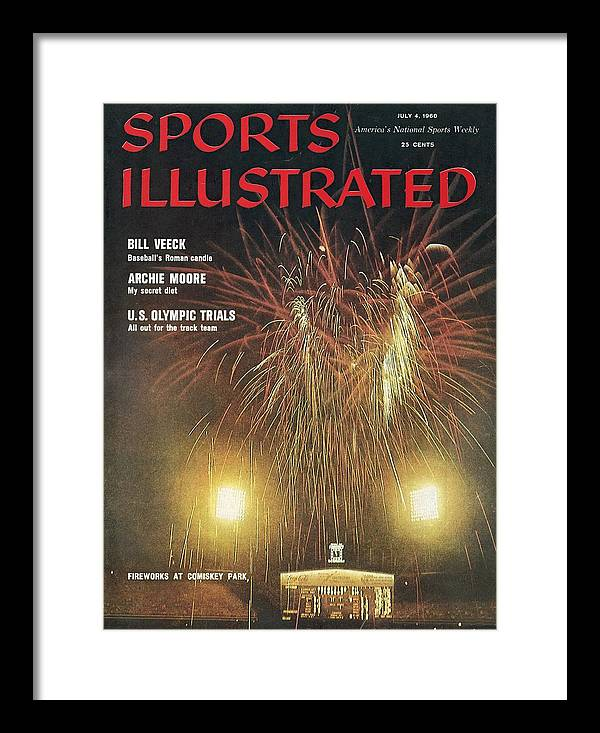 Magazine Cover Framed Print featuring the photograph Comisky Park Sports Illustrated Cover by Sports Illustrated