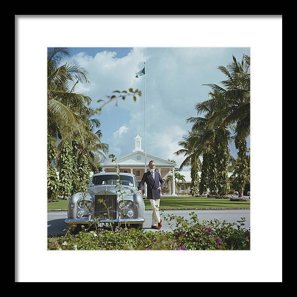 Rolls Royce Framed Print featuring the photograph Commander Whitehead by Slim Aarons