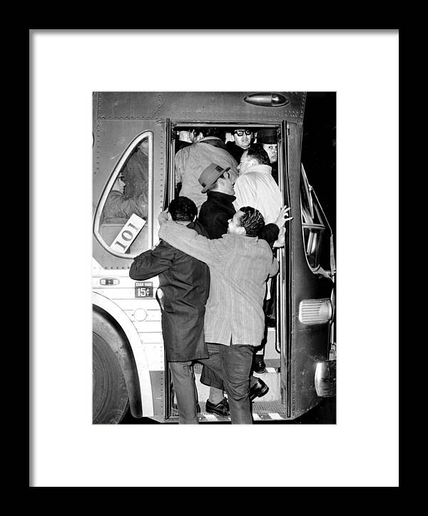 Blackout Framed Print featuring the photograph Commuters Cram Their Way Into Crosstown by New York Daily News Archive