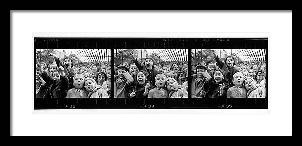 Timeincown Framed Print featuring the photograph Composite Of Frames 33 34 & 35 Of by Alfred Eisenstaedt