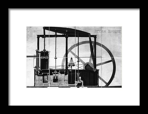 Road-going Steam Engine Framed Print featuring the digital art Condensing by Hulton Archive