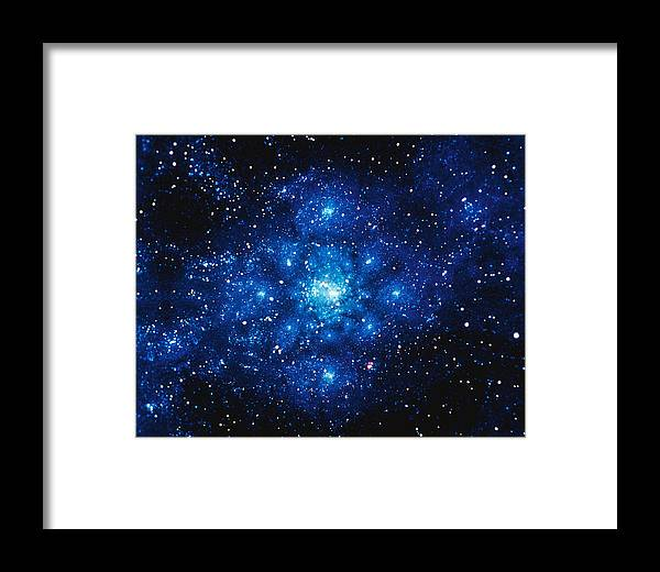 Majestic Framed Print featuring the digital art Constellation Digitally Generated Image by Stocktrek