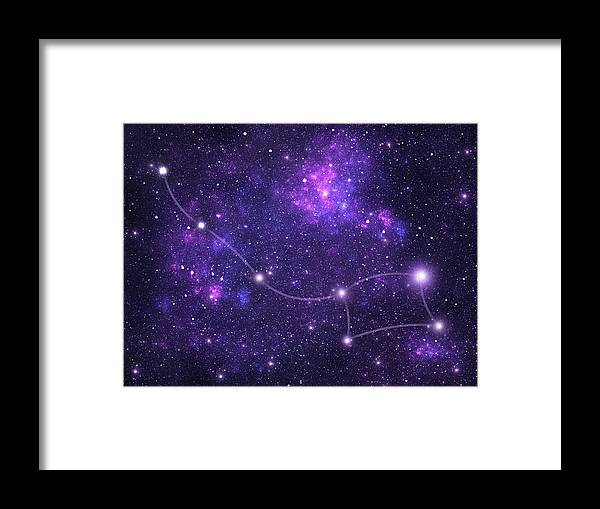 Dust Framed Print featuring the photograph Constellations. Ursa Minor Umi by Sololos