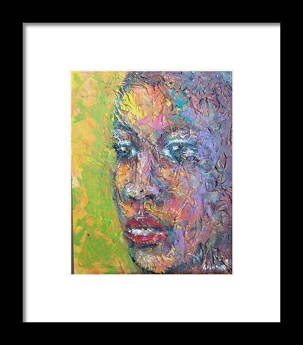 Framed Print featuring the painting Contemplation by Jan Gilmore