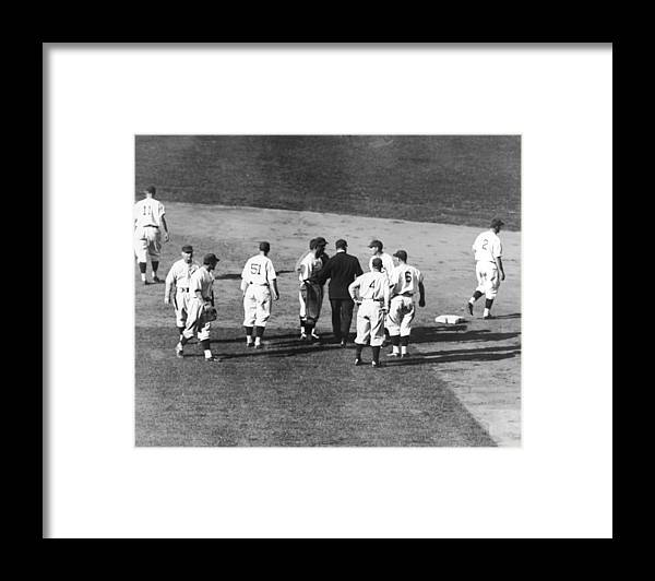 People Framed Print featuring the photograph Controversial Call In The 1935 World by Fpg