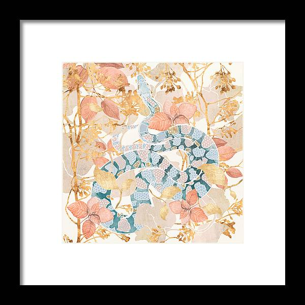 Coral Framed Print featuring the digital art Coral Spring Garden by Spacefrog Designs