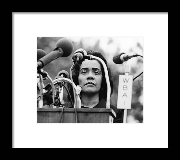 Coretta Scott King Framed Print featuring the photograph Coretta Scott King by Hulton Archive