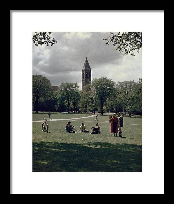 Shadow Framed Print featuring the photograph Cornell Campus by Slim Aarons